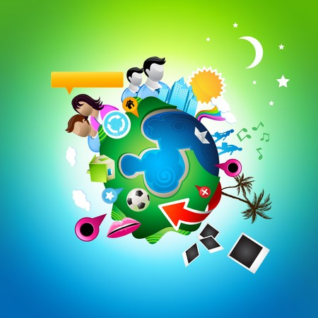 A vector world. All elements individually grouped. Stock Vector - 7241716
