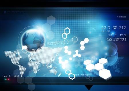 World Technology Background. Stock Photo