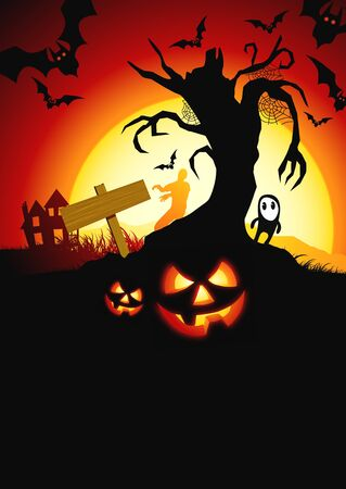 A scary  halloween background! Vector