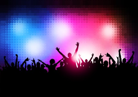 New Wave Party People - Large party background. Stock Vector - 7883478