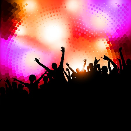 Large crowd of party people -   background. Stock Vector - 7883481
