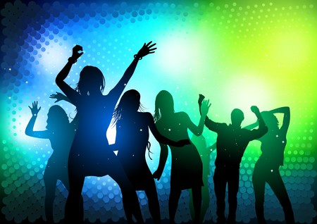 nightclub bar: Party People Dancing   illustration Illustration