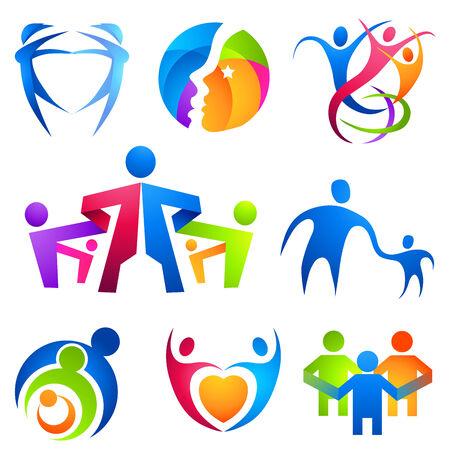 comunidades: Personas conexi�n s�mbolos. Una colecci�n de iconos de personas.