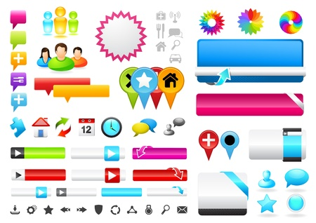 A collection of vector web design icons. photo