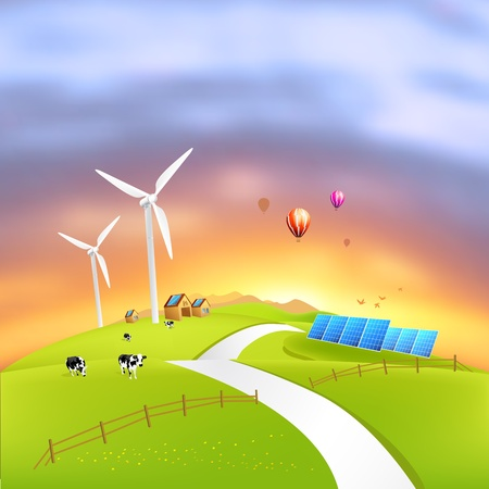 Beautiful Clean Energy - vector illustration Stock Illustration - 8801826