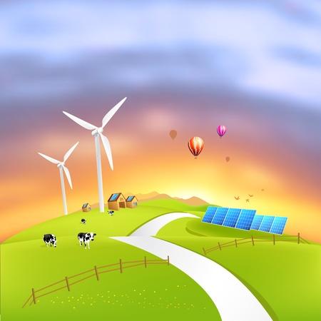 Hermosa energía limpia - ilustración vectorial Foto de archivo
