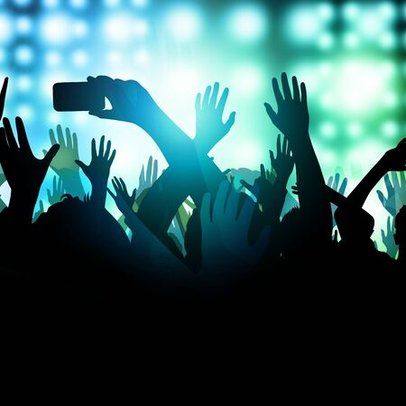 A huge excited crowd at a concert. Stock Photo - 8801825