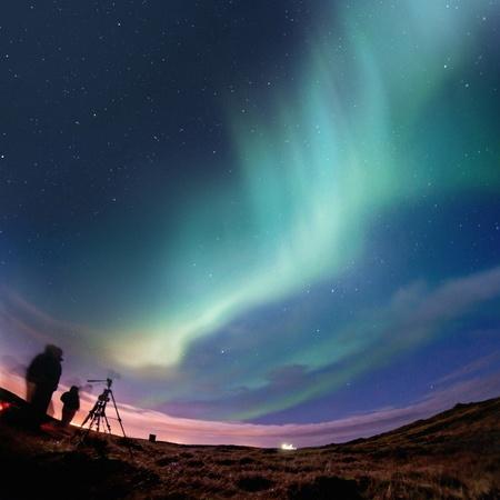 Northern Lights (Aurora Borealis) Over Iceland, Febuary 2011. Stock Photo - 8919040