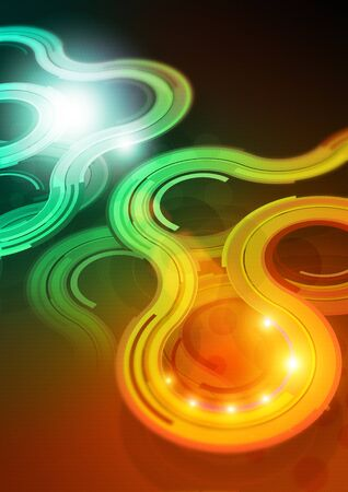 Curves Background Design. HD and richly detailed abstract curves and lights Stock Photo - 8918871