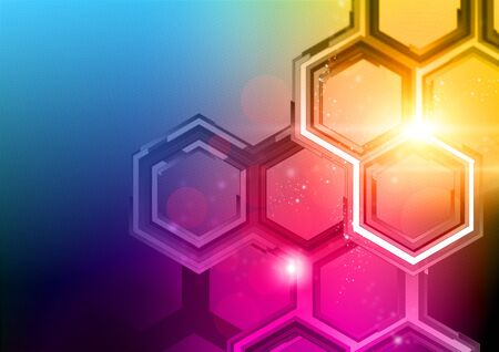 sensational: Technology Background Design. HD and richly detailed abstract pattern and lights Stock Photo
