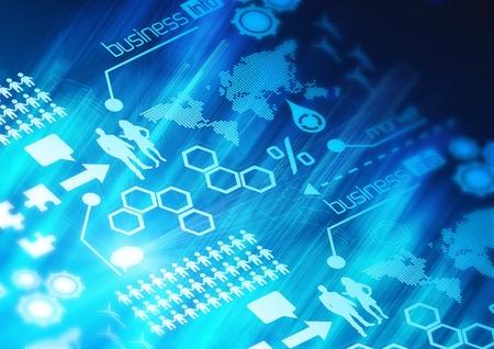 tech: Un concepto de fondo de red de negocios.