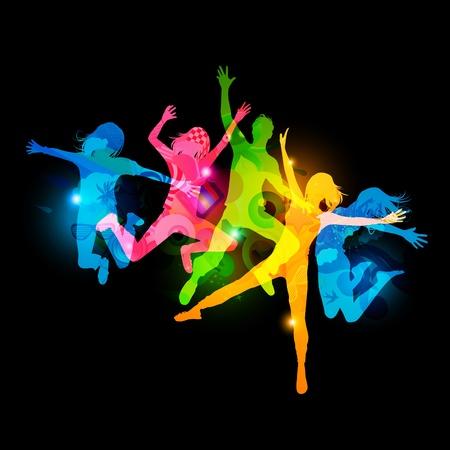 Jeunes adultes en santé. Les gens sautants actifs.