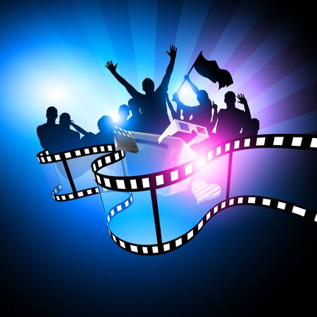 movie film reel: Dise�o del Festival de cine