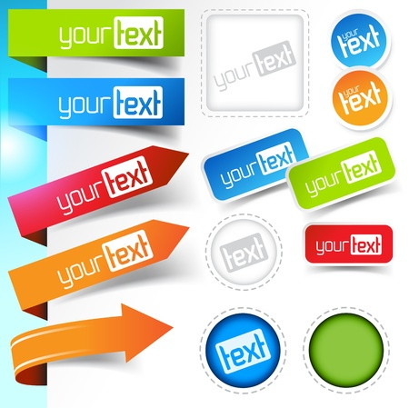 Web page Sticker Designs Stock Vector - 9373902