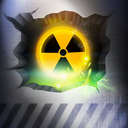 hazzard: Radiation Overload. Stock Photo