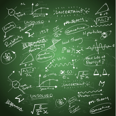 theories: Mathematics Background Stock Photo