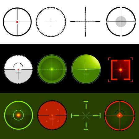 Vector Target Crosshairs Stock Vector - 9720255