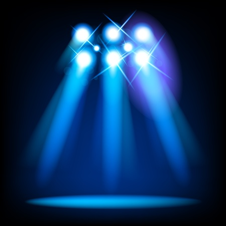 night light: Vector Stage Light Elements