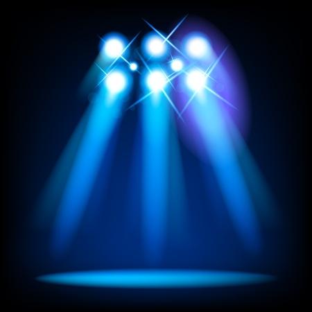 lichteffekte: Vektor Licht B�hnenelemente Illustration