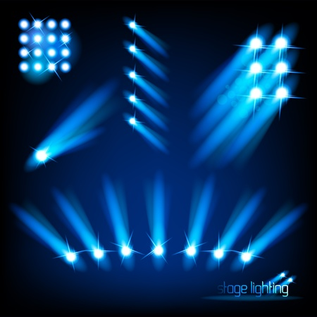 lighting background: Vector Stage Light Elements