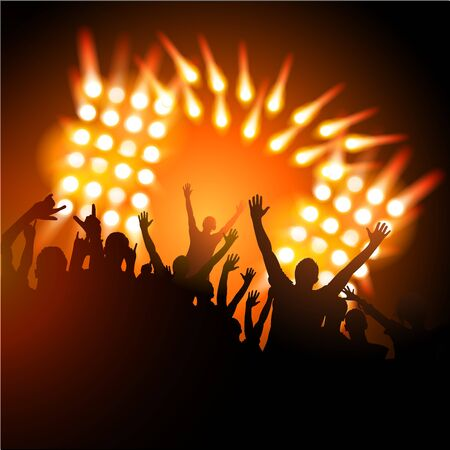 People at a Concert Stock Vector - 9721975