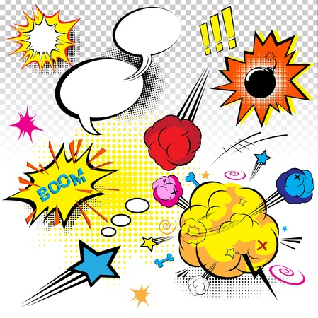 Comic Book Expressions Vector