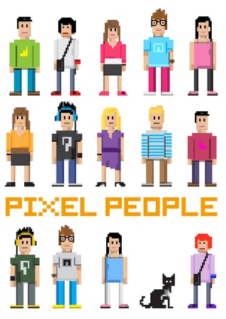 pixels: Pixel People! Illustration
