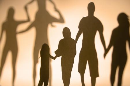 problemas familiares: Una colecci�n de miembros de la familia.