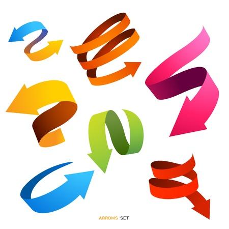 flecha direccion: Una colecci�n de dise�os de flechas curvas