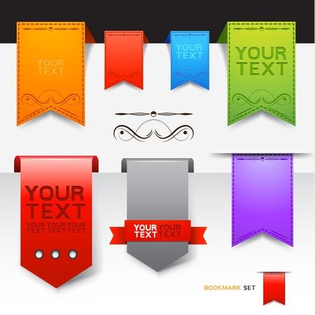 buttons: Una collezione di disegni segnalibri Vettoriali