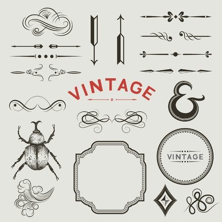 A Collection of vintage designs Stock Vector - 13176061