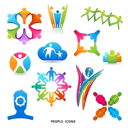 A Collection of People Icons and Symbols  designs  Ilustracja