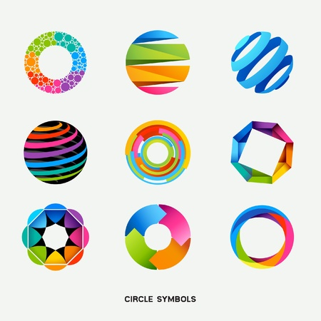 Circle Design Symbols Collection illustration Stock Vector - 13176015