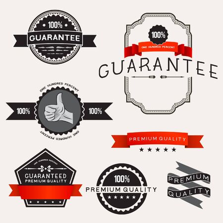 Retro Designs étiquettes illustrations