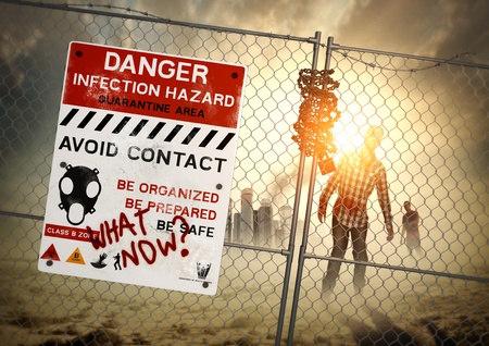 infections: Zombie Aftermath - When zombies come - be ready! Stock Photo