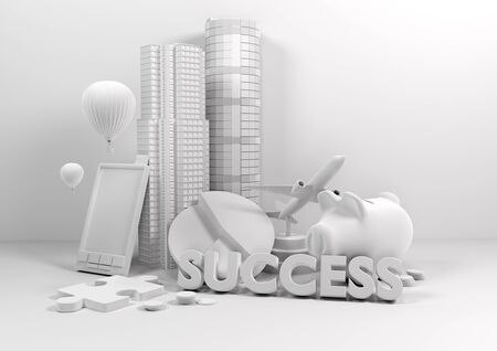 Model Business Lifestyle - 3D business concept. photo