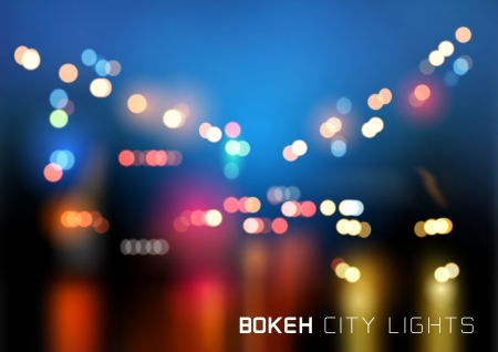 Bokeh City Traffic Vector