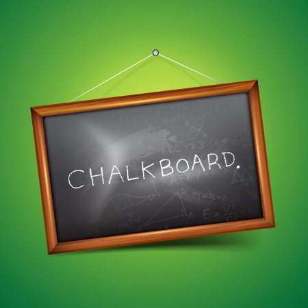 A vector chalkboard  Vector illustration Vector