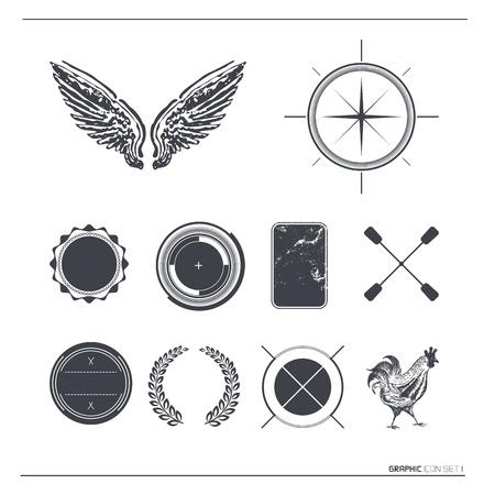 Vintage Vector Labels   Symbols Stock Vector - 14968597