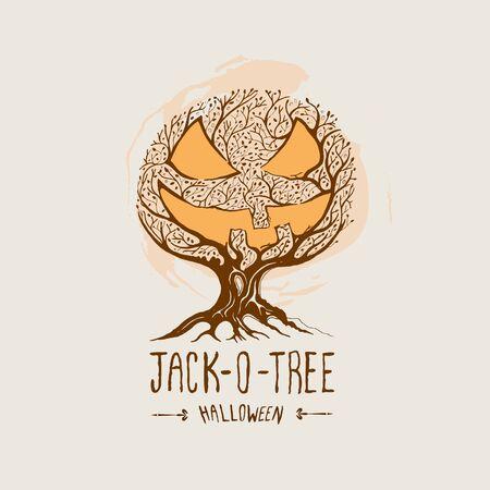 Jack-O-Tree -  Halloween Vector Stock Vector - 15601398