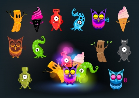 Curious Monster Collection Vector