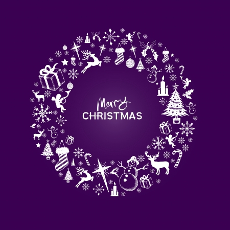 purple stars: Christmas Design Illustration