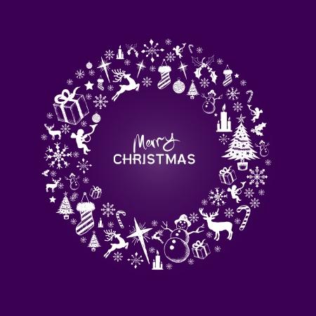 morado: Dise�o de la Navidad Vectores