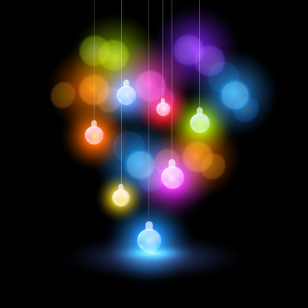 A collection of christmas fairy bauble lights Vector