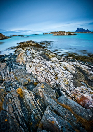 fjords: Beautiful and Rugged Northern Norway Coast Stock Photo