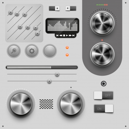 ui: UI Design Elements vector illustration