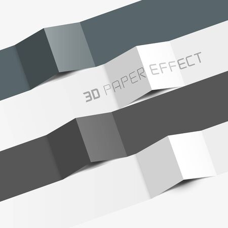 3d paper effect for copy text, information  Stock Vector - 18711320