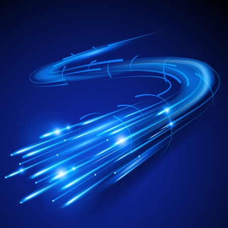 internet speed: Super Fast Fiber Optic  illustration
