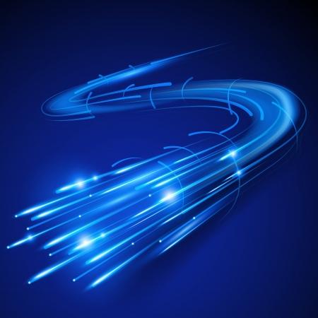 Super Fast illustration fibre optique Vecteurs