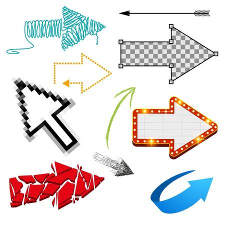 Assorted Arrow Collection - various arrow designs  Vector